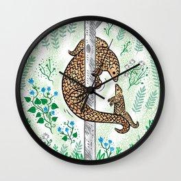 Pangolin Parenting Wall Clock