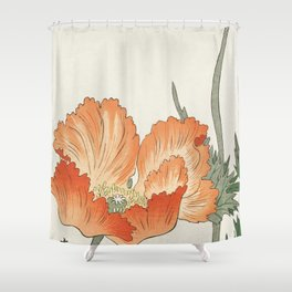 Birds and Plants Shower Curtain