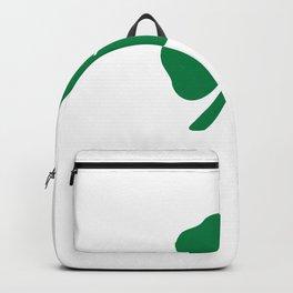St Patricks Day Boxer Dog Clover Leaf Backpack