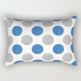 Blue Gray Dots Pattern Rectangular Pillow