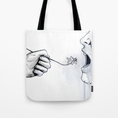 And I Will Raise Him Up At The Last Day Tote Bag