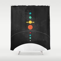 solar system Shower Curtains featuring The Solar System by John David Harris