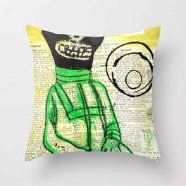 Hello Cosmomaut Throw Pillow
