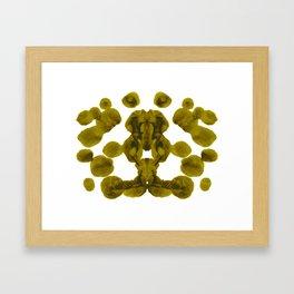 Olive Green Rorschach Test Framed Art Print