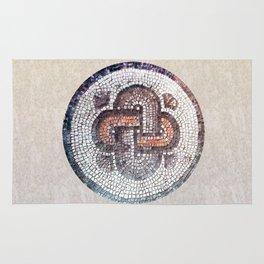 Solomon Knot. Antique symbol. Rug