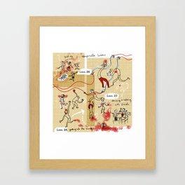 Vampirilla lessons Framed Art Print