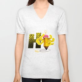 Hi Multitasking Unisex V-Neck