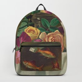 Still Life with fruit and fish bowl Backpack