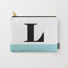 Monogram Letter L-Pantone-Limpet Shell Carry-All Pouch