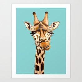 Giraffe Acrylic Painting Art Print