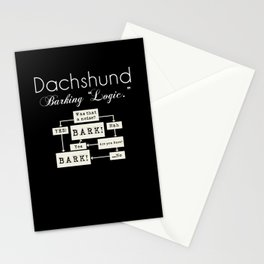 Barking is the Option Stationery Cards