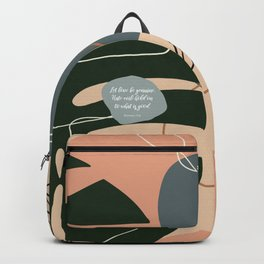Let love be genuine. Hate evil; hold on to what is good. Romans 12:9 Backpack