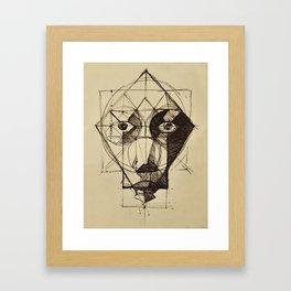 Face Shapes Framed Art Print