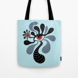 Abstract Surreal Double Red Eye Tote Bag