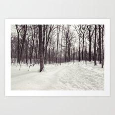 a winter walk Art Print