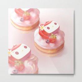 Strawberry Tart Metal Print