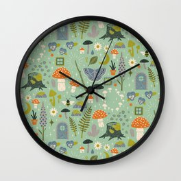 Fairy Garden Wall Clock