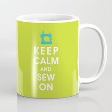 Keep Calm and Sew On (For the love of Sewing) Mug