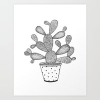 Prickly Paddles Art Print