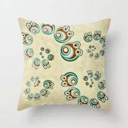 Spiral Critter Throw Pillow