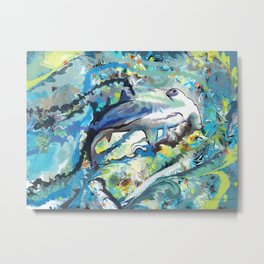 The Difficulties of the Water Soluble Shark Metal Print