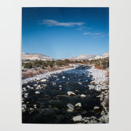 Chama River in Snow Poster
