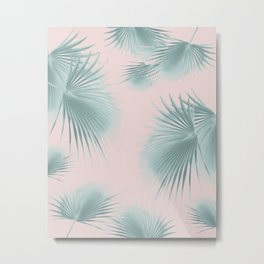 Fan Palm Leaves Paradise #6 #tropical #decor #art #society6 Metal Print