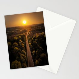 The Black Road - Epic sunset captured by drone Stationery Cards