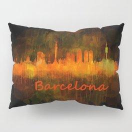 Barcelona City Skyline Hq _v4 Pillow Sham