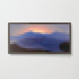Painting Sunset Pixel Art Metal Print