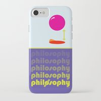philosophy iPhone & iPod Cases featuring [UN] DISCIPLINE: PHILOSOPHY by THEK'art
