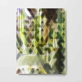 Cactus Garden Art Triangles 2 Metal Print