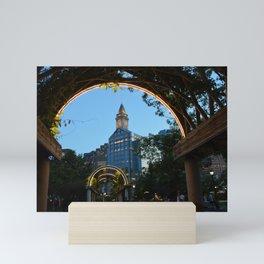 Downtown Boston at Dusk Mini Art Print