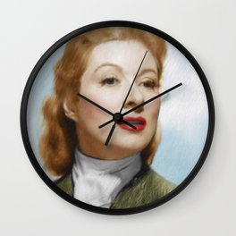 Greer Garson, Vintage Actress Wall Clock