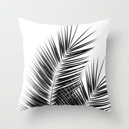 Black Palm Leaves Dream - Cali Summer Vibes #1 #tropical #decor #art #society6 Throw Pillow