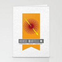 martell Stationery Cards featuring House Martell Sigil V2 by P3RF3KT