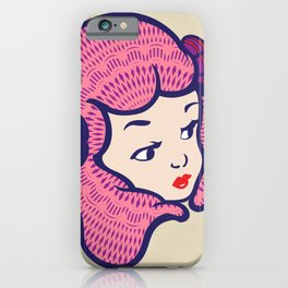 Girl Power Cotton Candy iPhone Case