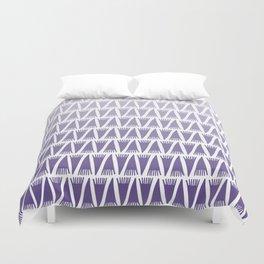 Tee Pee Gradient Ultra Violet Duvet Cover