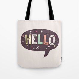 Hello Speech Bubble Tote Bag