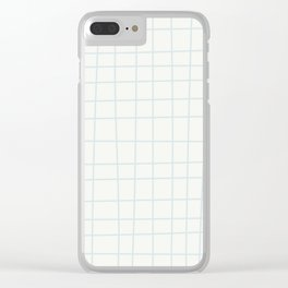 Modern minimalist ivory blush blue geometrical Clear iPhone Case