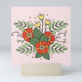 Beautiful Flower Drawing Mini Art Print