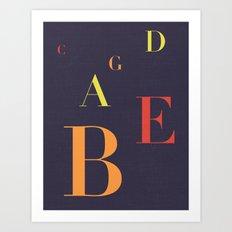 Fifths Art Print