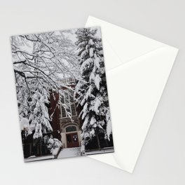 Snow in Portland Stationery Cards