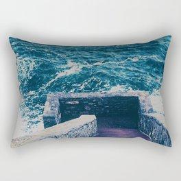 The 40 Steps - Cliff Walk - Newport, Rhode Island Rectangular Pillow