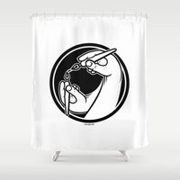 logo Shower Curtains featuring Logo by Stephen Harris