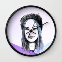 gemma correll Wall Clocks featuring Gemma by bylosangeles