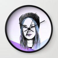 gemma Wall Clocks featuring Gemma by bylosangeles