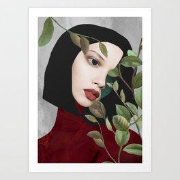 """Girl"" collage art Art Print"