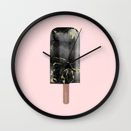 Black Marble with Gold Popsicle Wall Clock