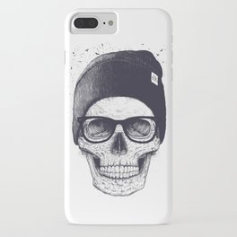 Grey Skull in a hat iPhone Case